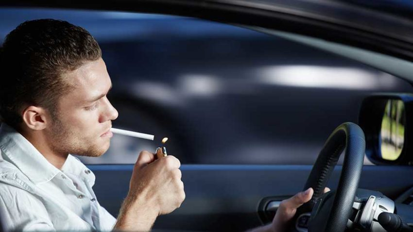 smoking in a rental car